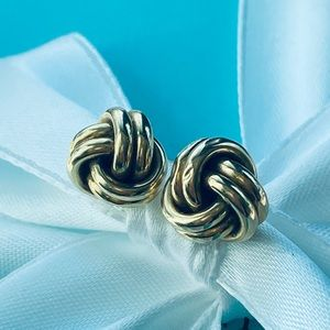 Tiffany & Co. Vintage 14k Love Knot Earrings